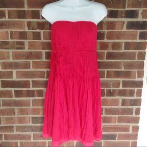 Like new J. Crew ❤️100% silk strapless red dress